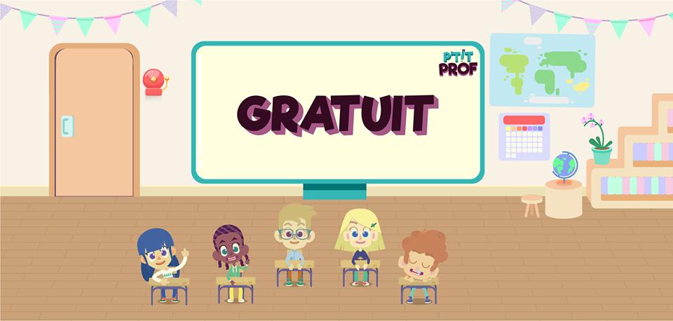 Application P'tit Prof - tous les contenus gratuits